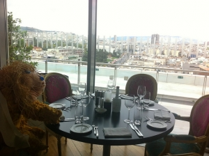 Our lion strolls around Athens...
